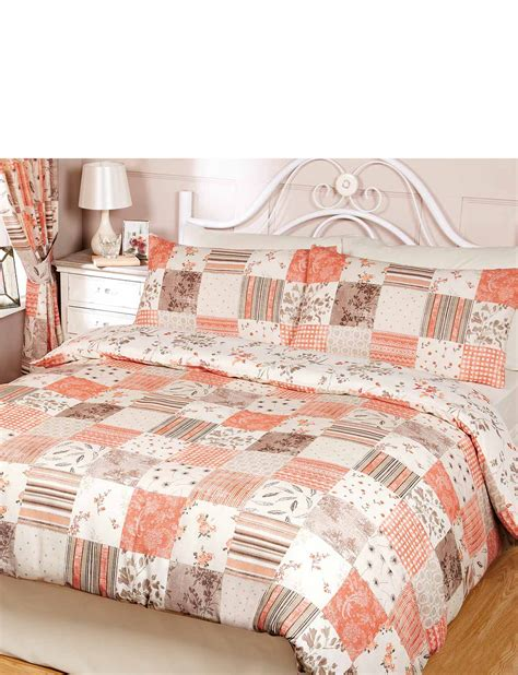 Patchwork Bedding And Curtains - toile patchwork quilt cover set chums