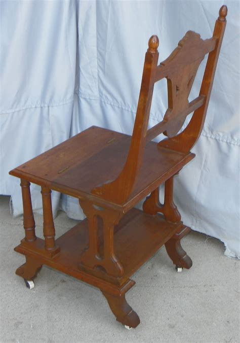 Step Stool Chair Combination by Bargain S Antiques 187 Archive Walnut Combination Chair And Folding Step Stool