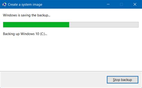 windows image backup how to create system image in windows 10