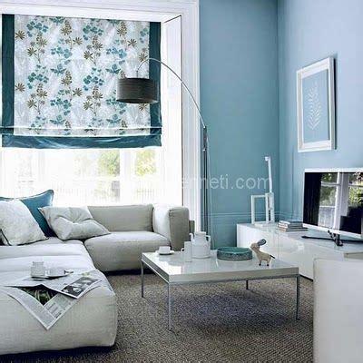 Zara Armchair Gri Ve Mavi Kombinasyonuyla Oturma Odası Dekorasyonu 19