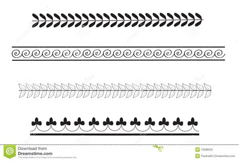 simple pattern border design simple ancient greek border patterns stock illustration
