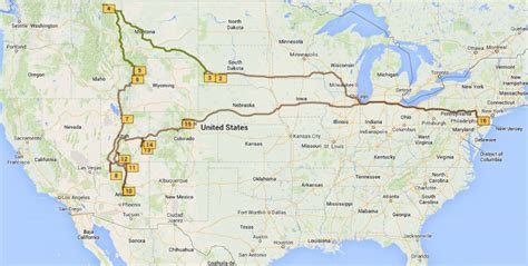 road travel map national parks road trip map map usa map images