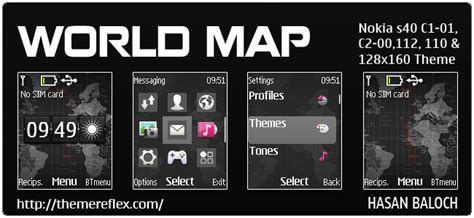 nokia 2690 original themes world map theme themereflex