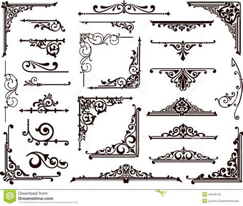 pattern frame corner vintage corner border clip art 67