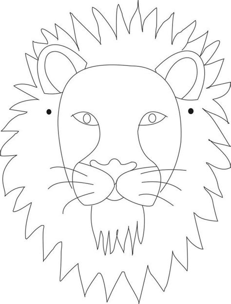 coloring page lion face 112 best lions images on pinterest africa carnivals and