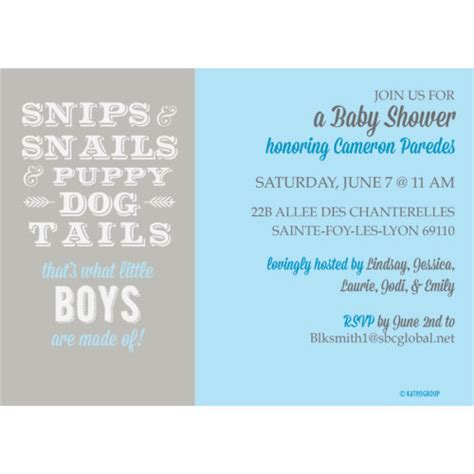 Snips And Snails And Puppy Tails Baby Shower by Snips And Snails And Puppy Tails Baby Shower