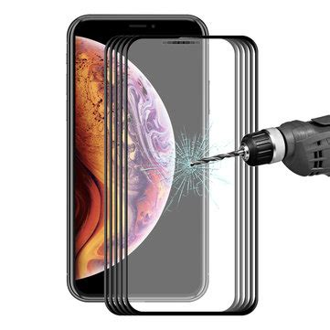 5 packs bakeey screen protector for iphone xs max 3d soft edge carbon fiber tempered glass