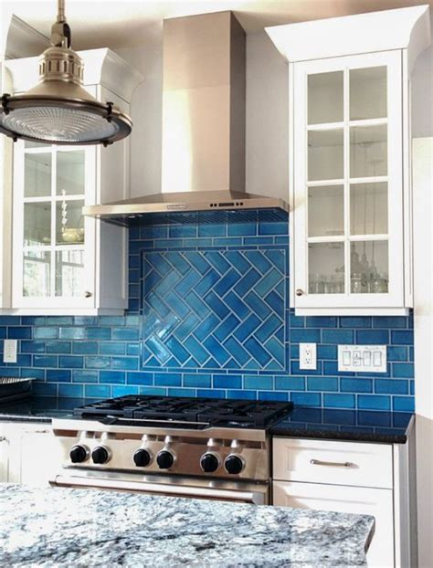 blue kitchen tile backsplash ocean inspired tile backsplash calm cool and colorful