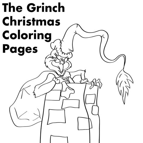 Grinch Christmas Printable Coloring Pages Holidappy Printable Coloring Pages Grinch