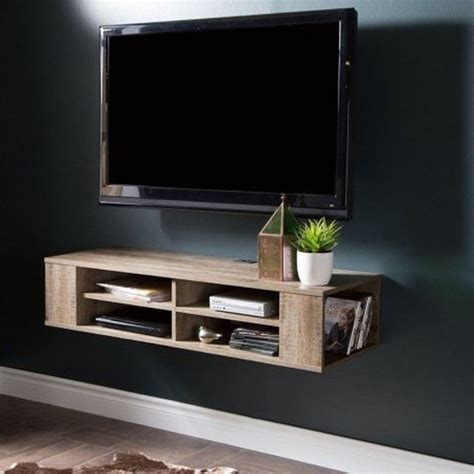 Wood Tv Shelf by Wall Mount Media Center Shelf Floating Entertainment