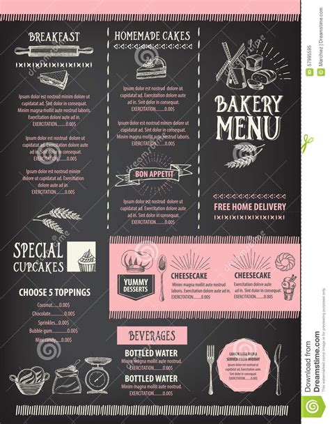graphic design cafe menu restaurant cafe menu template design food flyer stock