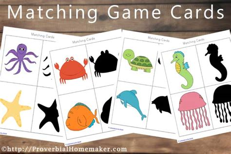 printable animal memory game cards ocean animal printables subscriber freebie proverbial