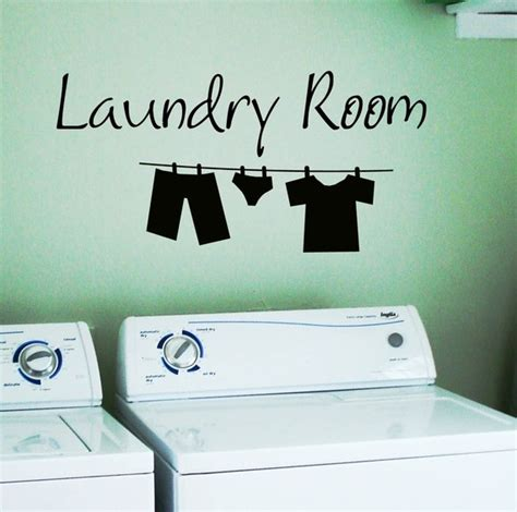 Laundry Room Decals by Laundry Room Removable Wall Stickers Wall Decal Ebay