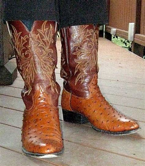 comfortable cowboy boots for walking largato ostrich boots
