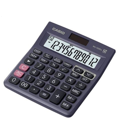 Promo Promo Casio Mj 12d Check Correct Desktop Kalkulator casio mj120 da financial calculator available at snapdeal