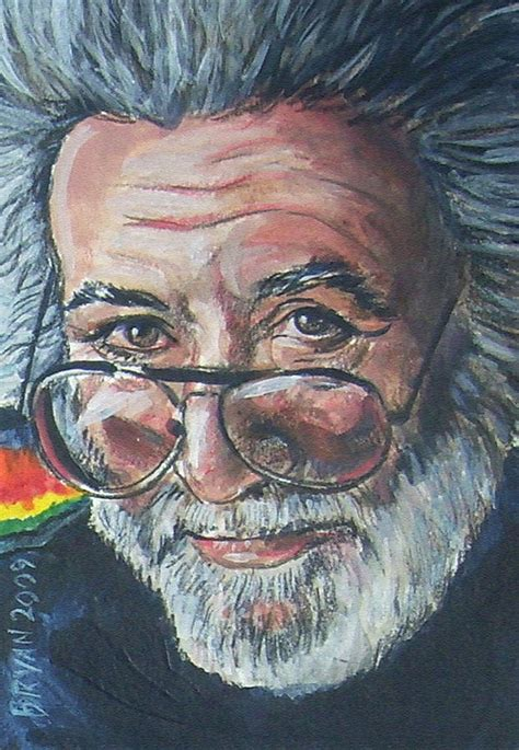 jerry painting jerry garcia by bryan bustard jerry garcia painting