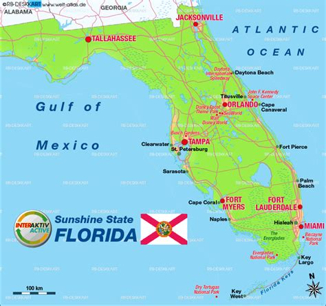 map us florida map of florida united states usa map in the atlas of