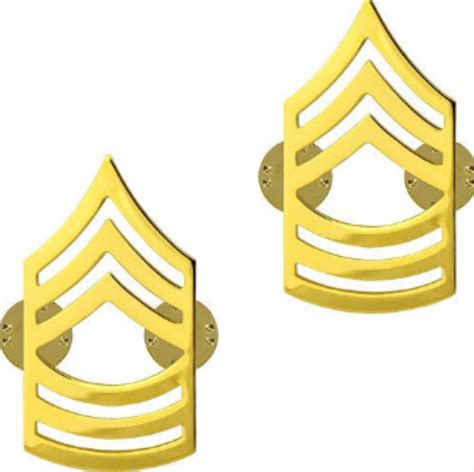 Us Rank Gold u s army master sergeant gold collar rank insignia