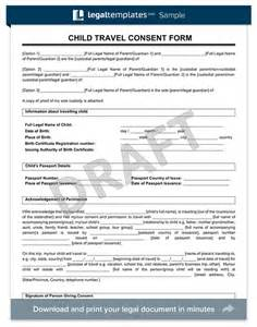 Consent Letter For Child Traveling With One Parent travel consent form for minor child traveling with one parent child