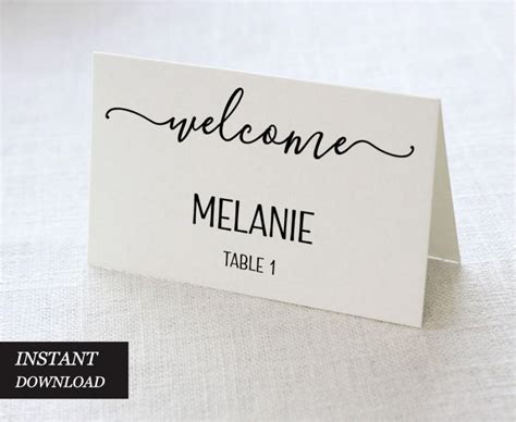wedding place card template pdf wedding place cards wedding place card printable place