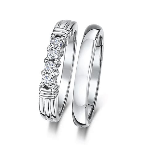 Wedding Bands Eternity by Cobalt 3mm Engagement Eternity Wedding Band Bridal Set