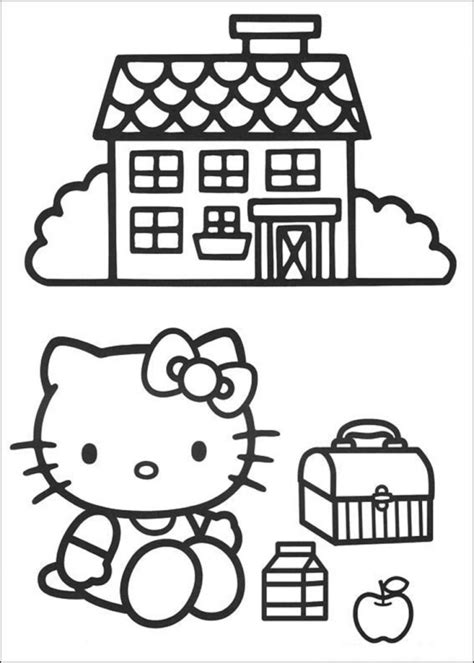 hello kitty at school coloring pages hello kitty coloring pages coloring page for kids kids