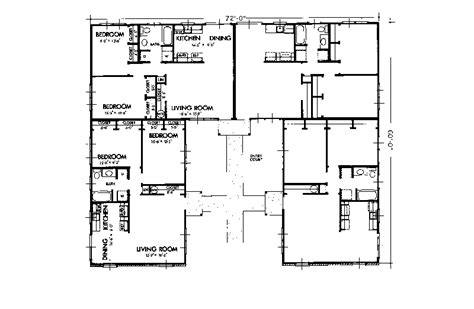 fourplex floor plans fourplex house plans fourplex townhouse house plan