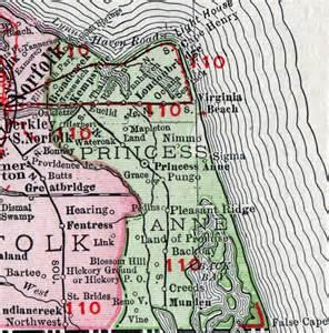 princess county virginia map 1911 rand mcnally