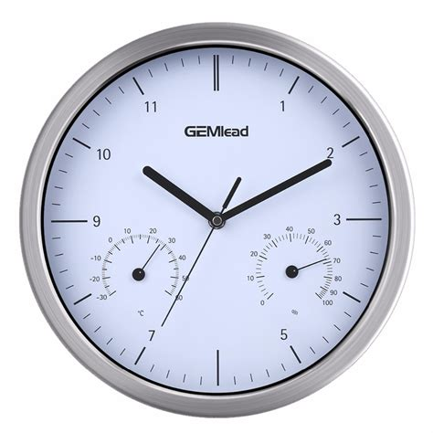 quiet wall clock cursosfpo info excelvan 12 quot large silent wall clock thermometer