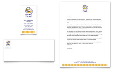 Dog Kennel & Pet Day Care Business Card & Letterhead