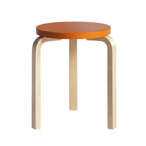 Stool Orange by E60 Stool Orange Artek