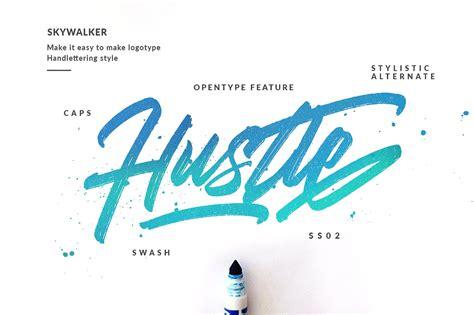 design font brush skywalker brush font navy themes
