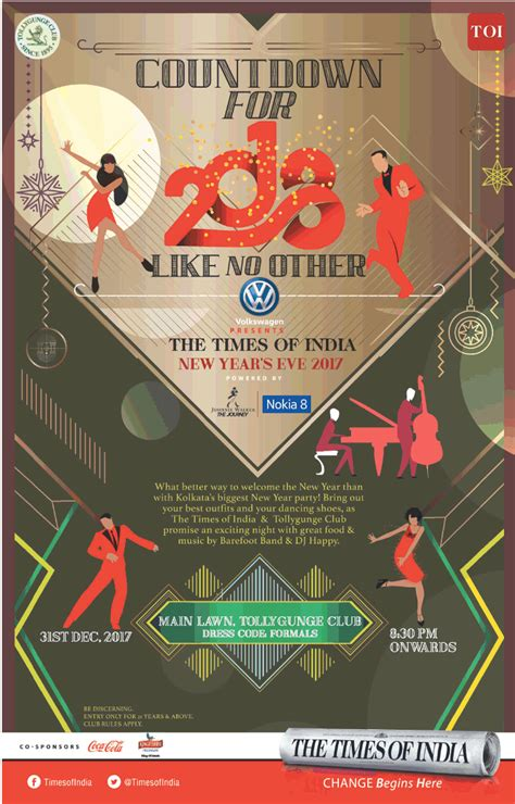 new year countdown in india the times of india new years 2017 countdown for 2018 like no other ad advert gallery