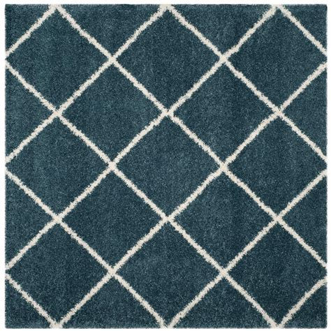 slate blue rug safavieh hudson shag slate blue ivory 7 ft x 7 ft square area rug sgh281l 7sq the home depot