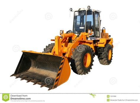 heavy building bulldozer  yellow color royalty