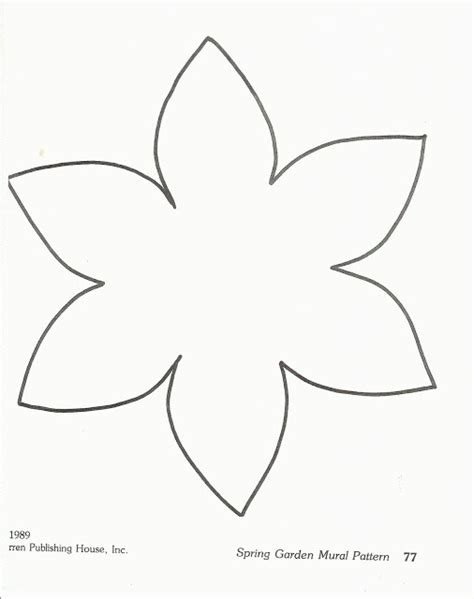 free printable flower templates crafts colorings net