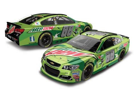 2017 Dale Earnhardt Jr #88 Mountain Dew 1:24 Diecast Car   GFRracing.com