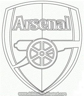arsenal fc coloring page coloring pages