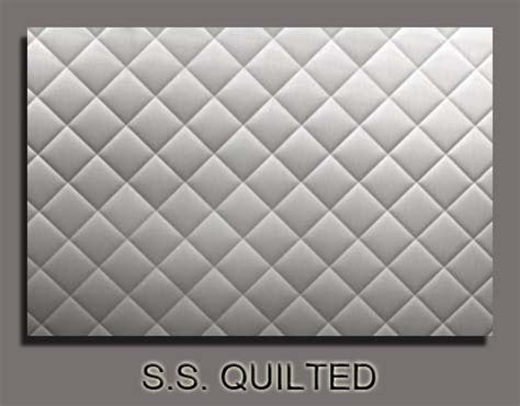 quilted metal backsplash chagne sheet metal stainless steel quilted stove
