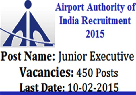 Airport Authority Of India Recruitment 2014 For Mba by Airport Authority Of India Recruitment For 450 Executives