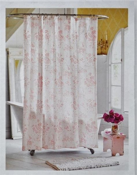 pink toile shower curtain rachel ashwell simply shabby chic shower curtain vintage