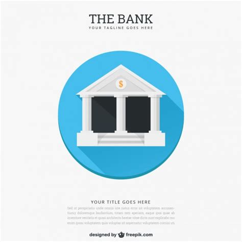 free bank the bank template vector free