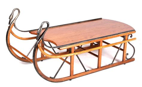 antique style trails sleigh coffee table the