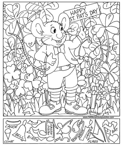 disney printable hidden pictures st patrick s day hidden pictures page print your free
