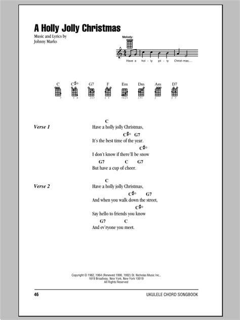 the pattern jolly lyrics a holly jolly christmas sheet music by johnny marks