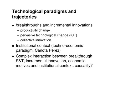 Economics And Technological Change lecture 1 the economic impact of technological change