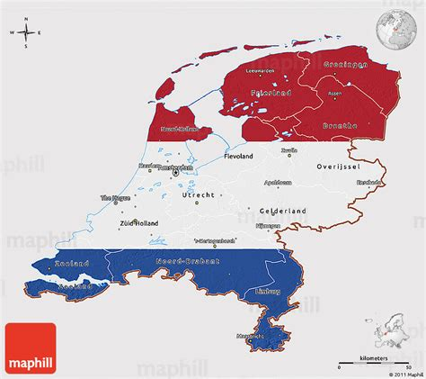 netherlands map and flag flag 3d map of netherlands
