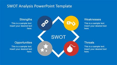 Flat Swot Analysis Powerpoint Template Slidemodel Swot Powerpoint Template