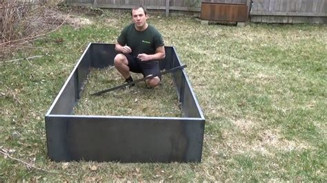 nicer    corten steel planter bed youtube