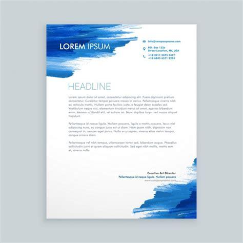 Premium Design Vorlage Blau Flie 223 Ende Tinte Briefkopf Vorlage Der Kostenlosen Vektor